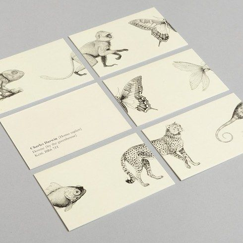 Charles Darwin | 12 Gorgeous Business Cards For Famous Historical Figures
