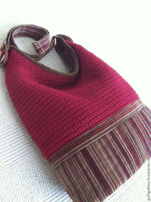 """Купить Сумка ,, Шпинель"""" - бордовый, однотонный, летняясумка, авторская сумка, сумка через плечо"""