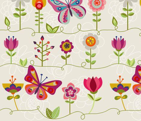 Butterflies fabric by valentinaharper on Spoonflower - custom fabric