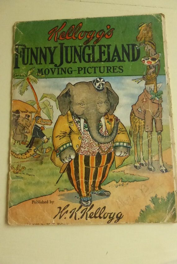 Antique Kellogg's Funny Jungleland Moving Pictures by papertales