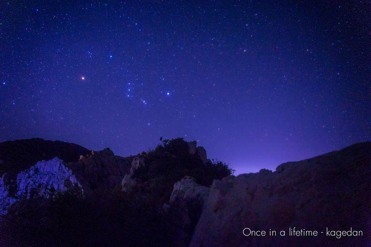 https://flic.kr/p/y1w7ku | 明け方の空に | 空が明るくなってきても、オリオン座の存在感は別格でした。