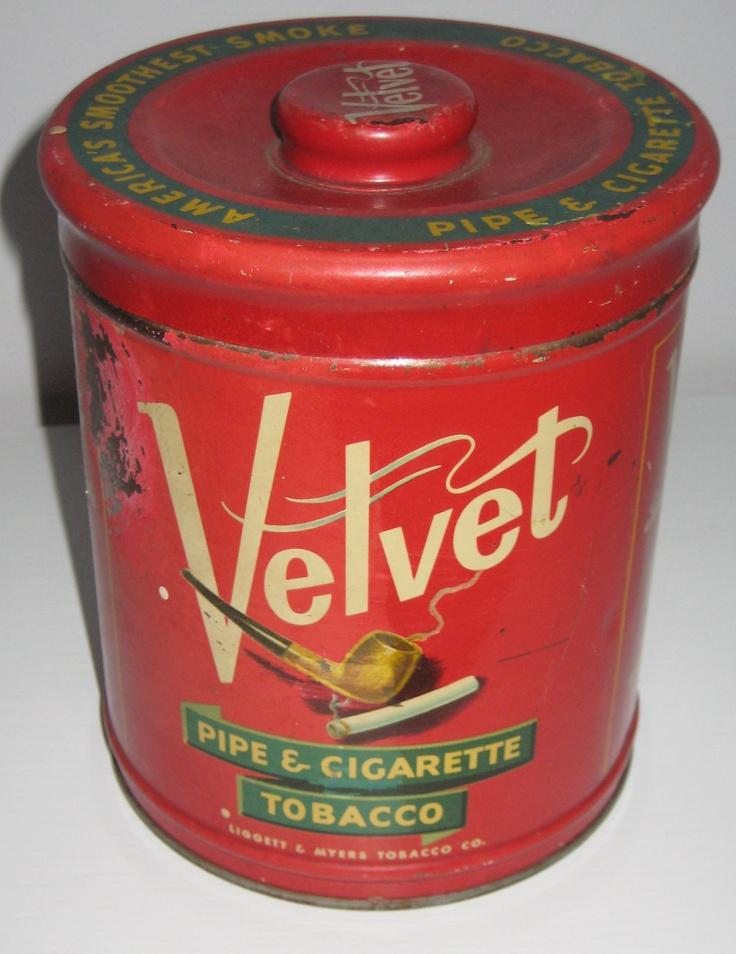 vintage tins | vintage velvet tobacco tin by theneatgirl on Etsy