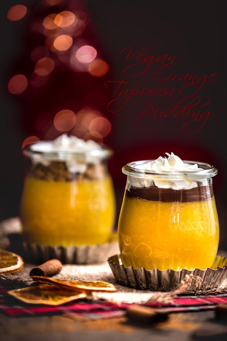 VEGAN Orange TAPIOCA PUDDING - Tapioca pudding arancia e cannella- Budino vegan all'acqua senza grassi #vegan #glutenfree #fatfree #xmas