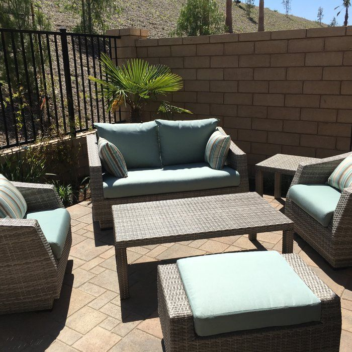 Castelli 6 Piece Sofa Set With Cushions Reviews Birch Lane Outdoor Furniture Sets Traditional Furniture Furniture