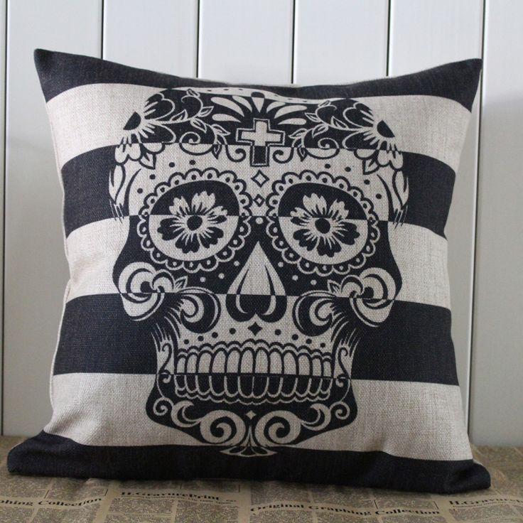 Handmade Sugar Skull Pillow Case //Price: $25.89 & FREE Shipping //     #skull #skullinspiration #skullobsession #skulls