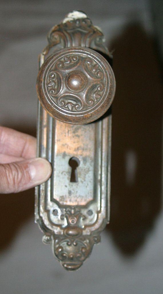 antique door knob and plates 28 - Antique Door Hardware