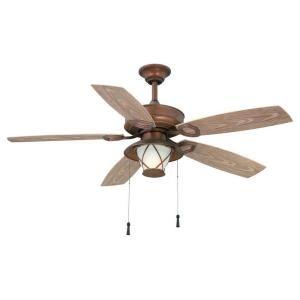 Hampton Bay, Glacier Bay 52 In. Rustic Copper Indoor/Outdoor Ceiling Fan,  14938 At The Home Depot   Mobile