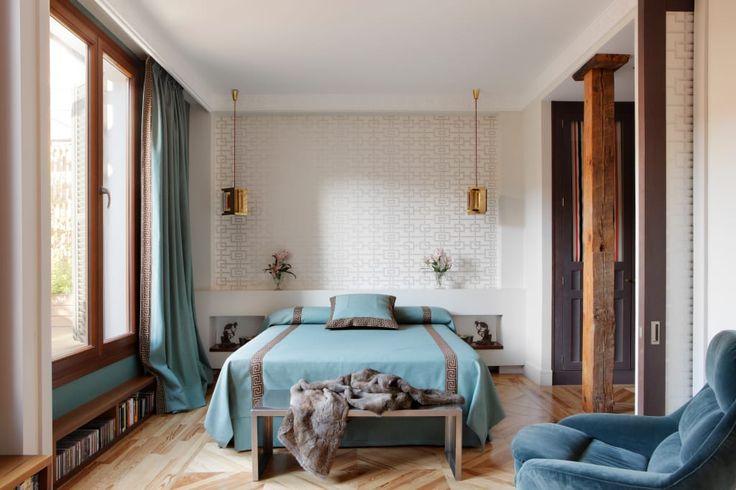 Busca imágenes de diseños de Recámaras estilo moderno de Ines Benavides. Encuentra las mejores fotos para inspirarte y crear el hogar de tus sueños.
