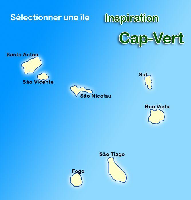 Carte Ile Cap Vert