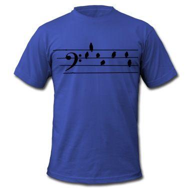 Maglietta con Musica - Bass Clef - uccelli come note - Maglietta, creazione di Quentin1984. Disponibile in diverse taglie: ordina questo prodotto adesso su Spreadshirt!