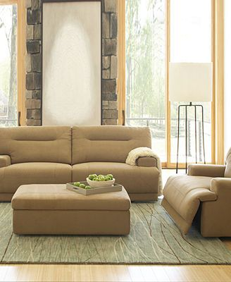 Ricardo fabric sofa living room furniture collection for Fabric reclining living room sets