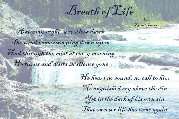 Breath of Life, original poem by Rachel Jacobs. Photo by Rachel Jacobs