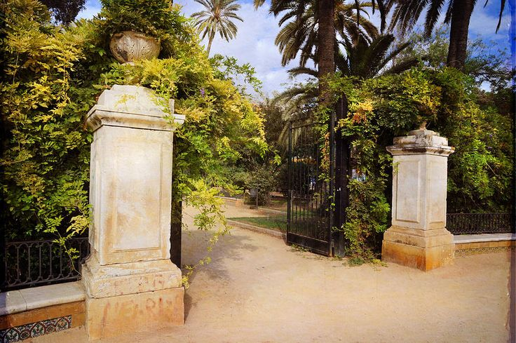 The Day Before. Jardines De Murillo. Sevilla by Jenny Rainbow.  Entrance to the beautiful old gardens in Seville, South Spain.  Available as wood, metal and acrylic prints and canvas in different sizes.  Fine art for home and other interiors to make your space special.  Tags:  Jenny Rainbow Fine Art Photography, Spain, Seville, gardens, home decor,wall art, art for home