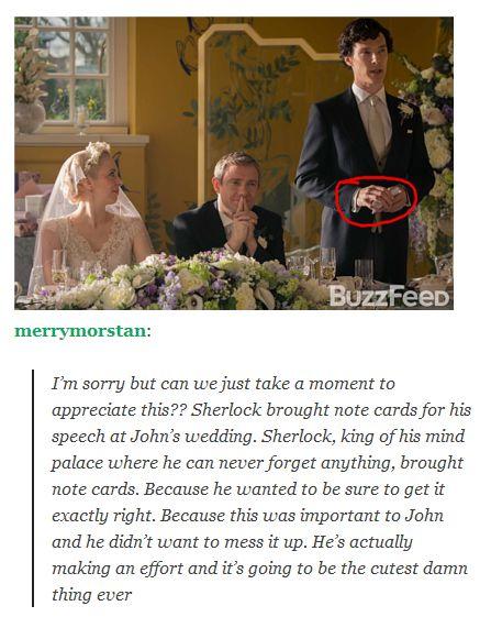 Sherlock at John's wedding - series 3 spoilers