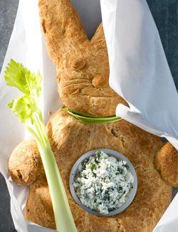 Italy- Easter savory cheese bread. .  Hare Bread with dip  225 grams Pecorino  6 eggs  50 g butter, melted and slightly cooled  60 ml olive oil  ¼ teaspoon salt  fresh pepper, 2x rotating  500 grams of flour  1 sachet of dried yeast