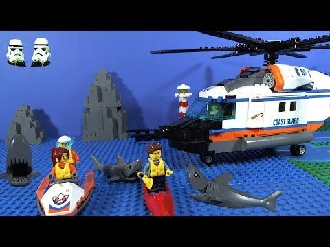 LEGO Coast Guard Heavy-Duty Helicopter Rescue Stop motion