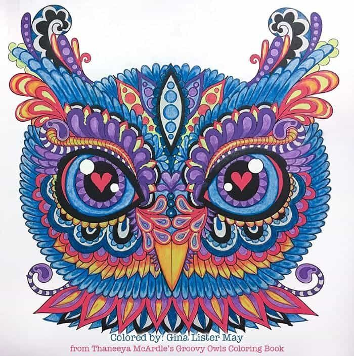 Groovy Owls Coloring Book By Thaneeya Mcardle Thaneeya Com Owl Coloring Pages Mandala Coloring Books Coloring Book Art