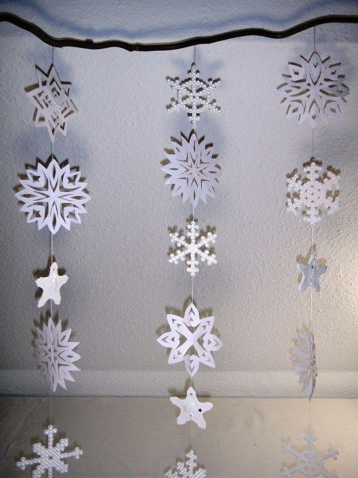 Schneeflocken-Fenster-Dekoration