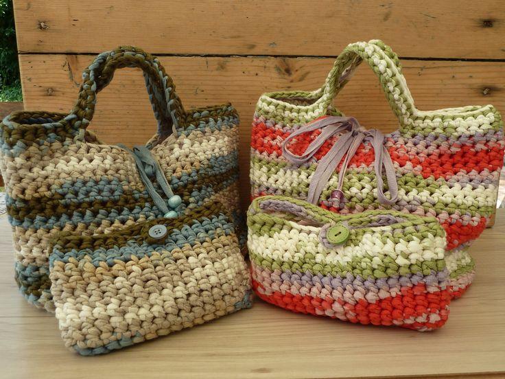 Completo in fettuccia estiva multicolor : Altre borse di farfilocreando