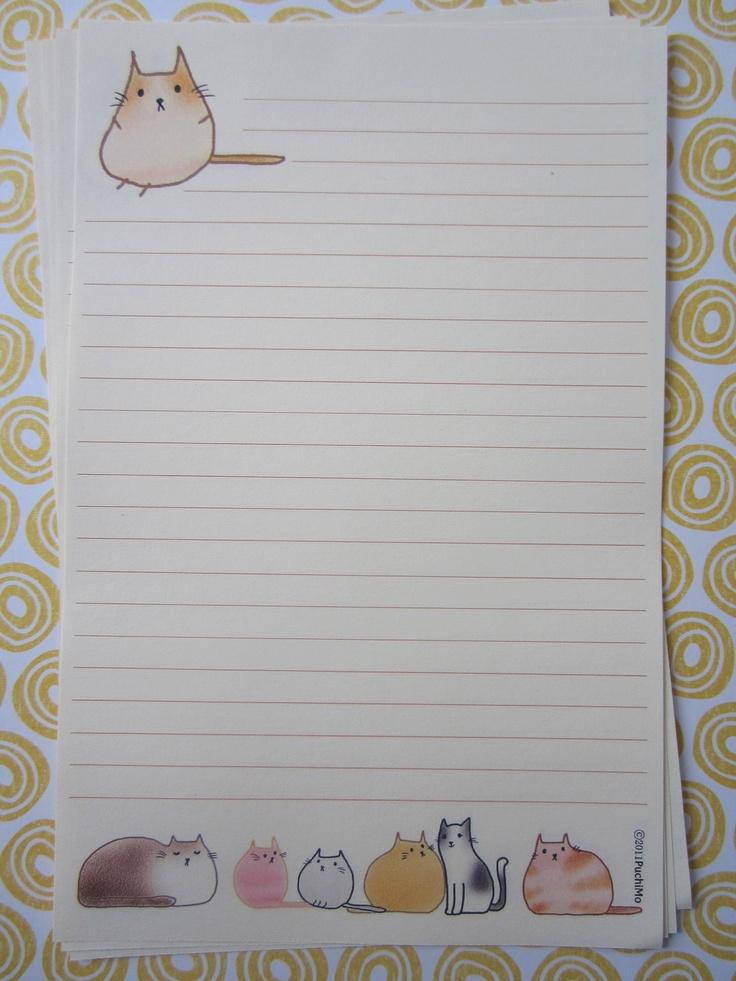 letter-paper / cute fatty cat. $3,99, via Etsy.