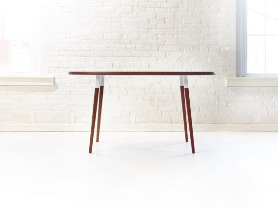 Sunny Side Up Dining Table  Modern Walnut Oval by WakeTheTree