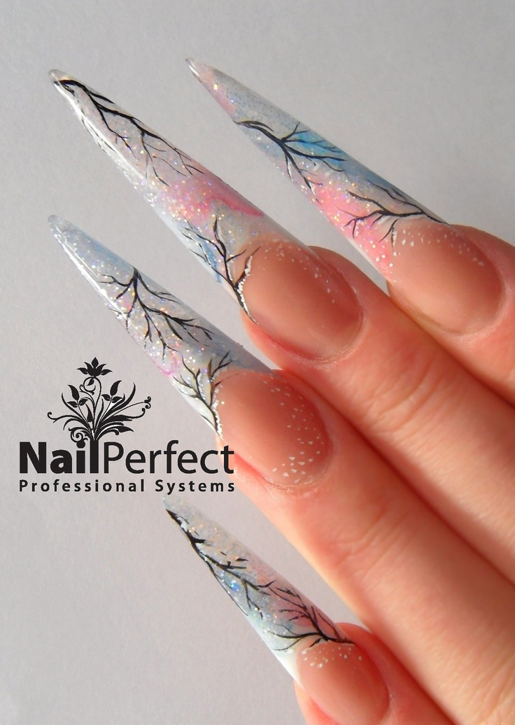 13 best Stiletto Nails images on Pinterest | Hand painted, Stiletto ...