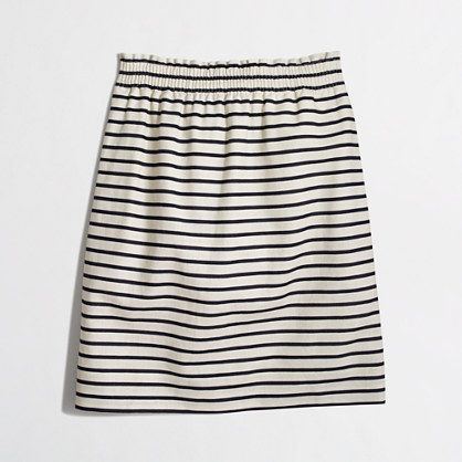 J.Crew Factory - Factory printed linen-cotton mini skirt