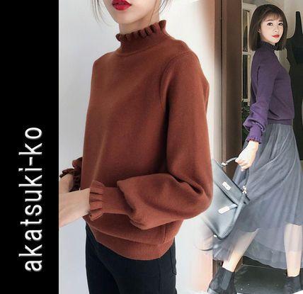 ニット・セーター ◆akatsuki-ko◆ ハイネック ボリューム袖 ニットトップス 6色