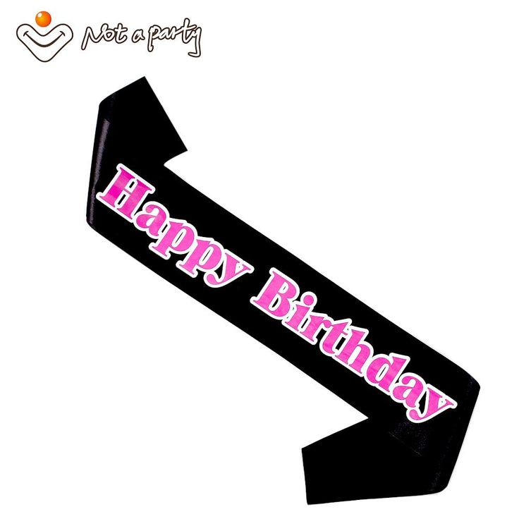 [Visit to Buy] Happy birthday sash 60% off for 3pcs fun adult gift 18 21 30 40 50 60 birthday souvenir ribbons event party supplies #Advertisement
