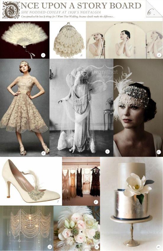 1920s wedding theme ideas for decor, invitations, attire, centerpieces, etc
