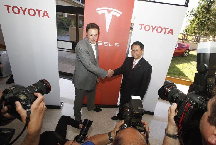 Description of  Tesla CEO and co-founder Elon Musk, left and Akio - ceo description