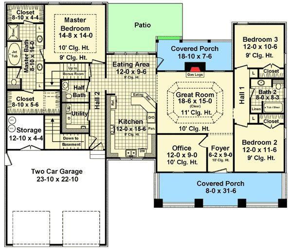 Texas House Plans Over 700: 42 Best Images About HOUSE PLANS 1500-1800 SQ FT On