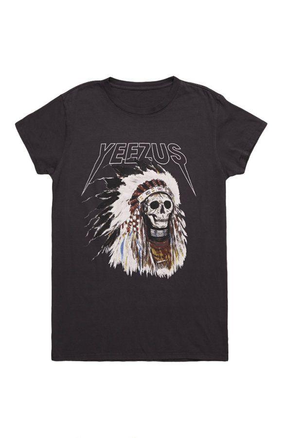 Yeezus Tour Merch Indian Headress T-Shirt  http://www.pacsun.com/yeezus-tour-merch/indian-headress-t-shirt-0097485830005.html?start=11&cgid=yeezus&dwvar_0097485830005_color=001