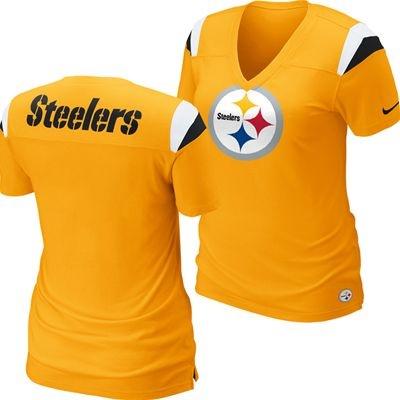 Pittsburgh Steelers Women's Fashion V-Neck T-Shirt