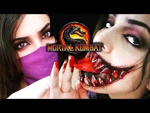 Maquiagem Mileena MK9 - Mileena Makeup tutorial - YouTube