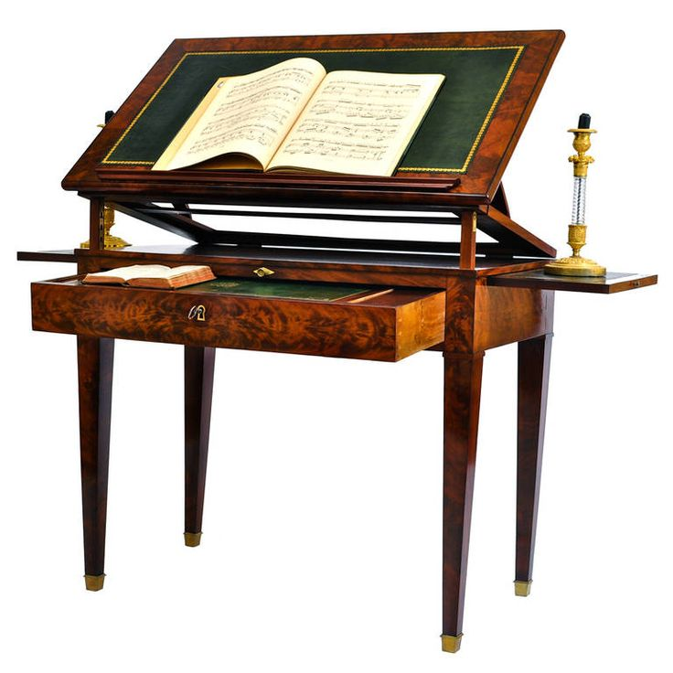 19th Century Architect Table, French Mahogany and Flamed Mahogany | From a unique collection of antique and modern desks and writing tables at https://www.1stdibs.com/furniture/tables/desks-writing-tables/