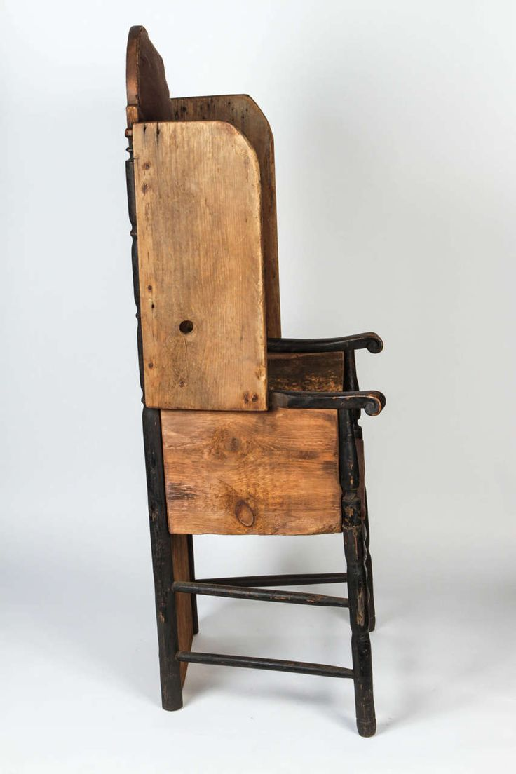 This israel sack american federal mahogany antique lolling arm chair - Early American Primitive Chair