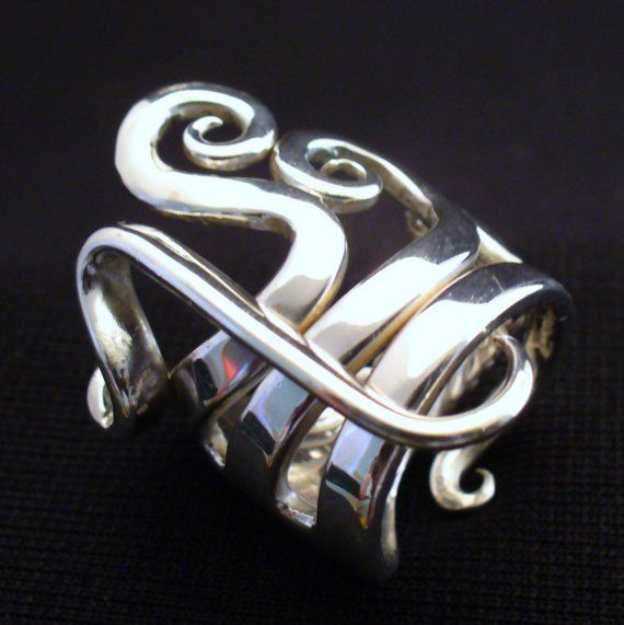 Solid Sterling Silver Real Fork Ring Size 5 to 16 by forkwhisperer, $149.00  Fabulous