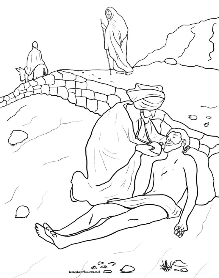 Printable Coloring Page for Parable of the Good Samaritan ...