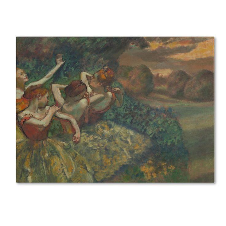 Edgar Degas 'Four Dancers 1899' Art