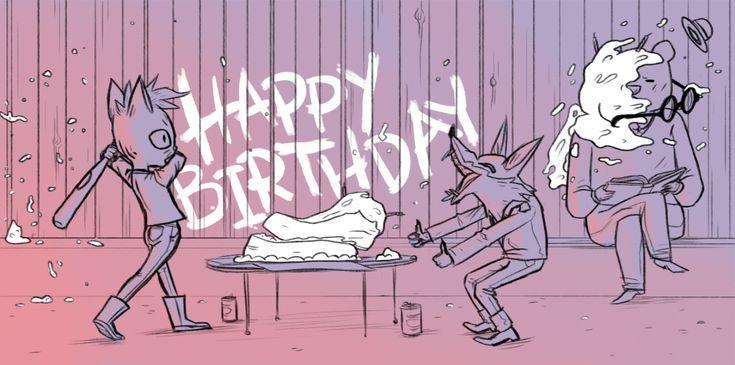 Cole Ott Draws Pictures — it's Scott Benson's birthday, so I drew him a...