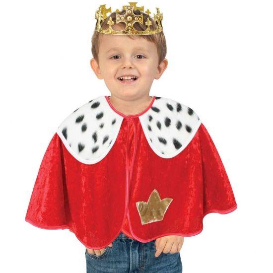 Rode koning poncho voor peuters.  Carnavalskleding 2016 #carnaval