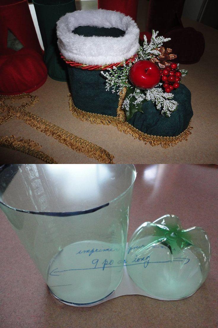 Bota Natalina de garrafa pet