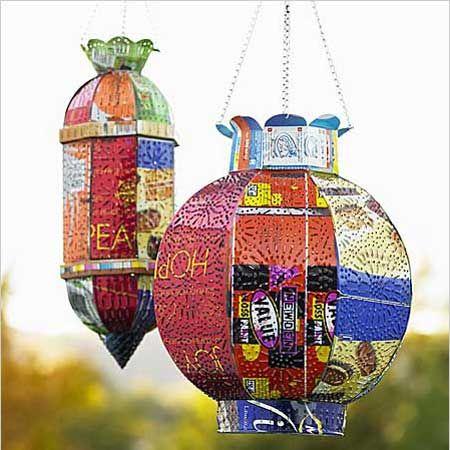 Latas recicladas adornos para jardin reciclaje cosas - Cosas de reciclaje ...