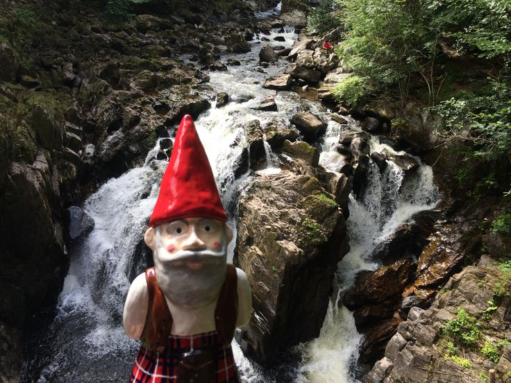 MacGnome at the Hermitage near Dunkeld, Perthshire