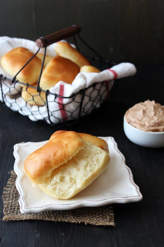 Texas Roadhouse Bread Rolls with Cinnamon Butter from Handletheheat.com