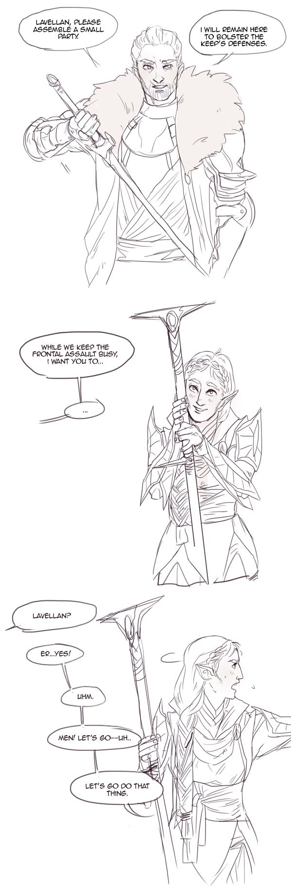 To be fair, he is extremely distracting in the best possible way. WhatwasIdoingohrightbolsteringtheInquisiton. (Cullen x Inquisitor)