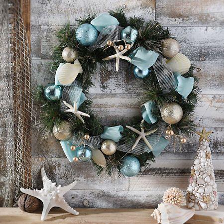 Aqua Coastal Wreath | Kirklands