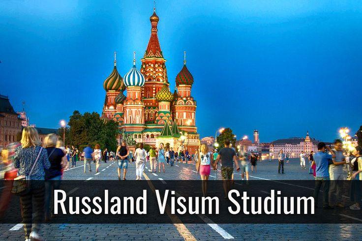 Visum für ein Studium in Russland + Studentenvisum abhängig von der Einladung + maximale Dauer 90 Tage + Einmalige Einreise oder Zweimalige Einreise