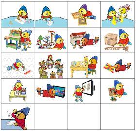 Kleuterjuf in een kleuterklas: Planbordkaarten van Pompom   Methode SCHATKIST